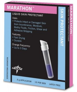 Medline MSC093005 - MedLine Marathon Liquid Skin Protectant, 0.5g Applicator, Latex-Free, BX 10