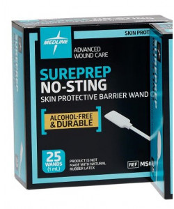 Medline MSC1510 - Sureprep No-Sting Skin Protectant Barrier Film, 1ml Wand, BX 25