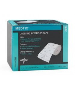 "MEDLINE MSC4004 - MEDFIX Tape Retention Dressing 4"" X 11yds, Latex Free, BX 1"