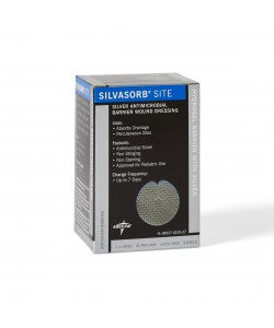 "Medline MSC9310EP - SilvaSorb Site Dressing, 1"" round with slit, 4mm, CS 30"