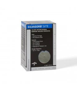 "Medline MSC9310EP - SilvaSorb Site Dressing, 1"" round with slit, 4mm, CS 30"