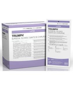 Medline MSG2270 - Triumph Sterile Latex Powder-Free Surgical Gloves, Size 7, BX 50 PR