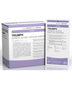 Medline MSG2275 - Triumph Sterile Latex Powder-Free Surgical Gloves, Size 7.5, BX 50 PR