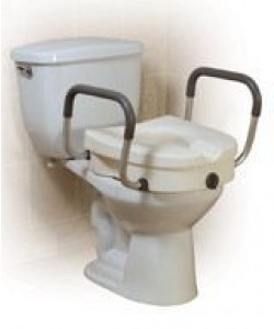 Invacare CRP0080 - Hard Plastic Raised Toilet Seat With Arm, EACH