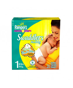 Pampers 10037000067297 - Pampers Swaddlers Disposable Diapers, Size 1, 8-14lbs (Case of 12 Packs, 240 Total Diapers), CS 240