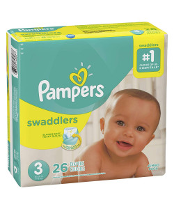 Pampers 10037000748974 - Pampers Swaddlers Disposable Diapers, Size 3, 16-28lbs (Case of 4 Packs, 104 Total Diapers), CS 104
