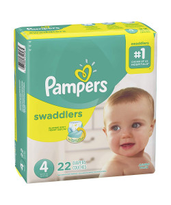 Pampers 10037000749582 - Pampers Swaddlers Disposable Diapers, Size 4, 22-37lbs (Case of 4 Packs, 88 Total Diapers), CS 88