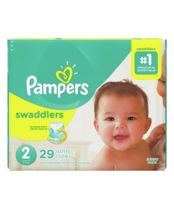 Pampers 10037000749605 - Pampers Swaddlers Disposable Diapers, Size 2, 12-18lbs (Case of 4 Packs, 116 Total Diapers), CS 116