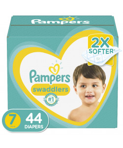 Pampers 10037000794667 - Pampers Swaddlers Disposable Diapers, Size 7, 41+lbs (44 Total Diapers), CS 44