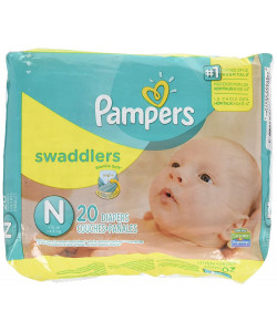 Pampers 37000303749 - Pampers Swaddlers Disposable Diapers Newborn up to 10lbs (Case of 12 Packs, 240 Total Diapers), CS 240