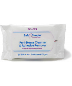Safe n Simple SNS00525 - Peri-Stoma Cleanser & Adhesive Remover (soft pack), PK 50