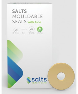 Salts Healthcare SMSAT15 - Salts Mouldable Seals Thin 50mm with Aloe and 15mm starter hole, BX 30