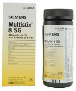 Siemens 2304A - Multistix 8 SG Urine Test strips for Leukosites,Protein,Glucose,Blood,Ketones, BTL 100