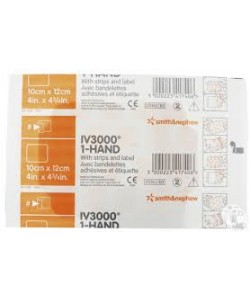 Smith&Nephew 4008 - OpSite IV3000 High Moisture Film Catheter Dressing, Transparent/10cmX12cm, BX 50