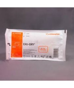 Smith&Nephew 5999006 - EXU-DRY Burn Wound Dressing with Anti Shear Layer, 15cm x 23cm (new# SN5999006), BX 12