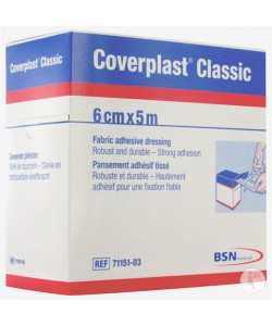 BSN Medical 7115103 - Elastoplast Coverplast Dressing STRIP 6 cm x 5 m, ROLL