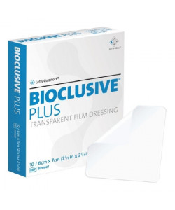 Systagenix BIP0607 - BIOCLUSIVE Plus Transparent Film Dressing 6cm x 7cm, BX 10