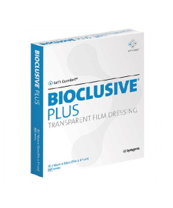 Systagenix BIP1012 - BIOCLUSIVE Plus Transparent Film Dressing 10cm x 12cm, BX 10