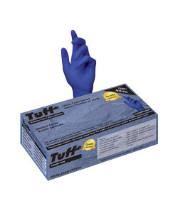 Tuff 15I-700PF-CB(M) - Tuff Nitrile Powder Free Exam Gloves, Medium, BX 100