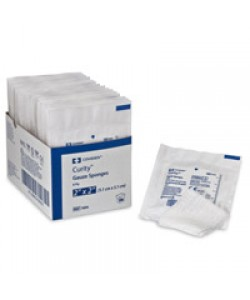 Tyco Covidien 1806 - KENDALL CURITY Gauze Sponges Sterile CASE of 3000 sold as 30 trays of 100, CS 3000