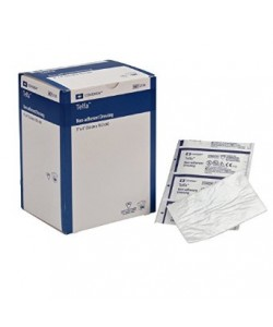 """Tyco Covidien 2132 - TELFA Ouchless Non-Adherent Dressing, 3X4"""", STERILE 1's, BX 100"""