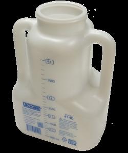 "Urocare Night Drain Bottle, 4000ml, 60"" Tube, Reusable Cap"