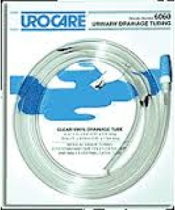 "Urocare 6060 - Clear-Vinyl Drainage Tube, 60"" Long, 9/32 ID, with Adaptor & Cap (STERILE), EACH"