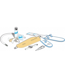 URO-KIT Latex Urinary leg bag Kit  32oz Large (incl. Fabric strap, urolux, straight thru adapter, thumb clamp, extension tube,