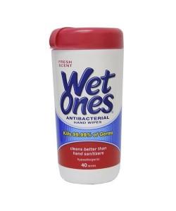 Wet Ones 70767 - WET ONES Antibacterial, 12 Canisters of 40 Washcloths/Case, CS 12