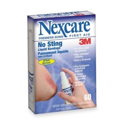 3M 118-03-CA - 3M Nexcare No Sting Liquid Bandage Spray 18mL, EA