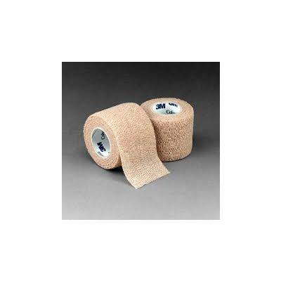 3M 1582 - M Coban Self-Adherent Wrap Self-Adherent Wrap - Tan, 2 inch x 5 yard - (fully stretched) (50mm x 4,5m), EA