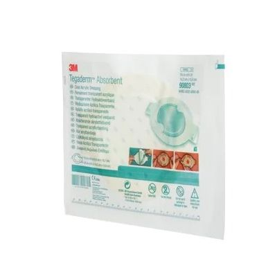 3M 90803 - TEGADERM Absorbent Acrylic Dressing, Large Oval, 5-5/8 in x 6-1/4 in (14.2 cm x 15.9 cm), BX 5