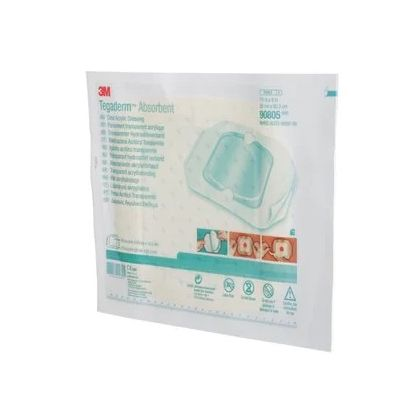3M 90805 - TEGADERM Absorbent Acrylic Dressing, Large Square, 7-7/8 in x 8 in (20 cm x 20.3 cm), BX 5