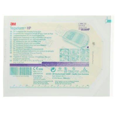 3M 9536HP - Tegaderm HP Transparent Film Dressing, Holding Power, Frame Style, 10x12cm, BX 50