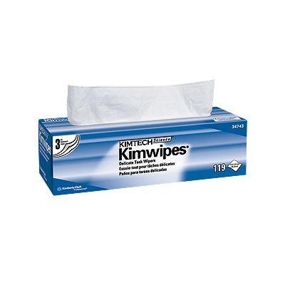 Kimberly-Clark 34743 - Delicate Task Wipes, Kay Dry, XL, Lint Free, CS15/119 Pkg, NON RETURNABLE., CS15Pkg