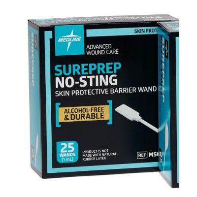 Medline MSC1510 - Sureprep No-Sting Skin Protectant Barrier Film, 1ml Wand, BX 25