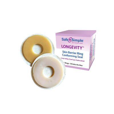 """Safe n Simple SNS684H2 - Safe n Simple Conforming Skin Barrier Rings, 2"""", Longevity, BX 10"""