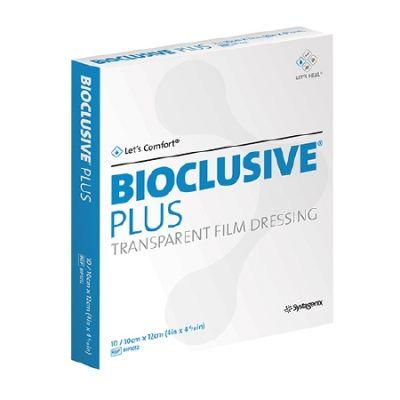 Systagenix BIP1012 - BIOCLUSIVE Plus Transparent Film Dressing 10cm x 12cm, BX 10