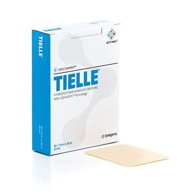 Systagenix MTL100 - Tielle Hydropolymer Adhesive Dressing, 7cmx9cm, BX 10