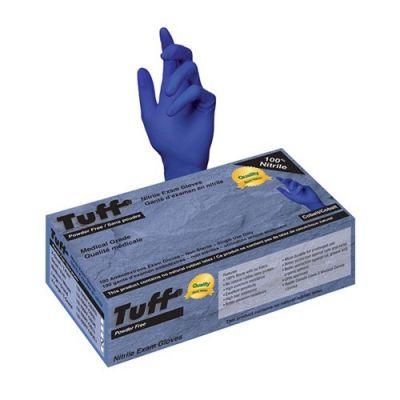 Tuff 15I-700PF-CB(L) - Tuff Nitrile Powder Free Exam Gloves, Large, BX 100