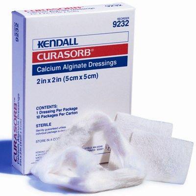 """Tyco Covidien 9239 - Curasorb Calcium Algenate Dressing, 6"""" x 10"""", Sterile, CS/50"""